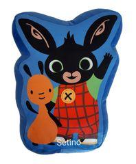 """SETINO 3D dětský polštář """"Bing"""" - modrá"""