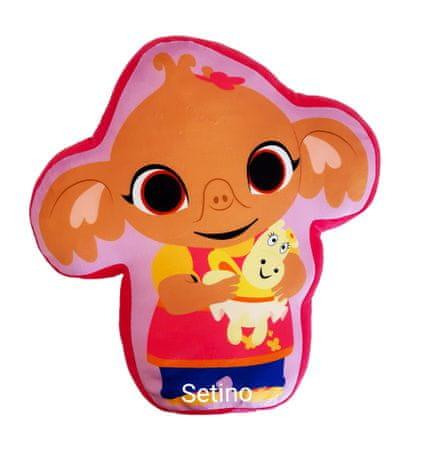 """SETINO 3D gyerek párna """"Sula"""" - rózsaszín"""