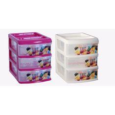 """IDEA Malá univerzální krabička """"lékárnička"""", 3 oddíly, mix barev"""