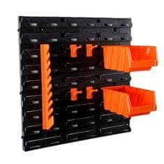 IDEA Nástěnný organizér se zásobníky, oranžový