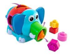 Miniland Baby Zábavný Slon, Edukačná hračka, 12m-3r