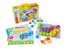 Miniland Baby Superpegs puzzle - 32 darab, 2r-5r