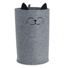 """Eva Organizér pro ukládání funny """"cat"""", barva šedá"""