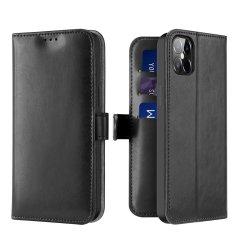 Dux Ducis Kado bőr könyvtok iPhone 12 Pro Max, fekete