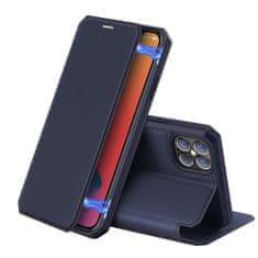 Dux Ducis Skin X bőr könyvtok iPhone 12 Pro Max, kék