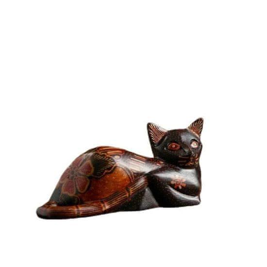 Kraftika Dekorace do interiéru - kočka, velikost 14 cm