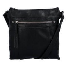 ERICK STYLE Praktická dámska koženková kabelka Sybilka, čierna
