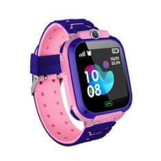 NEOGO SmartWatch QS12 LBS, chytré hodinky pro děti, růžové