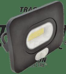 Tracon Electric Led reflektor venkovní 50W s pohybovým čidlem RSMDLM50 černý 4000K Tracon electric
