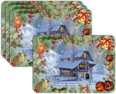 RoomDecor.eu Vianočné prestieranie-166, 4 Ks