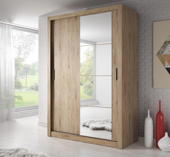 ATAN Šatní skříň 04 ARTI 150 dub shetland zrcadlo