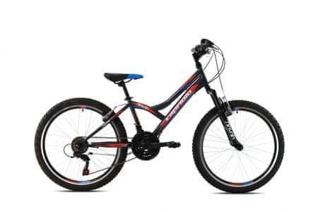 Capriolo MTB Diavolo 400 FS otroško kolo, črno-rdeče