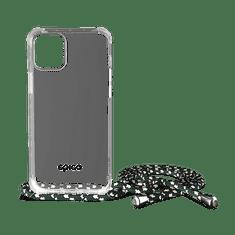 EPICO Nake String Case ovitek za iPhone 12/12 Pro, bel, prozoren/črno-bel