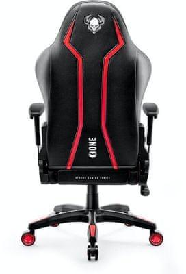 Gaming kolečková židle Diablo-Chairs X-One 2.0, XL, černá/červená (5902560336429) nastavitelné opěradlo nastavvitelné područky 200 kg hr pěna