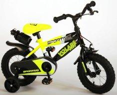 """Volare Detský bicykel pre chlapcov Sportivo Neon Yellow Black 12""""- zložený na 95 %"""