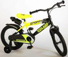 """Volare Detský bicykel pre chlapcov Sportivo Neon Yellow Black 16""""- zložený na 95 %"""