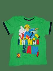 Disney Chlapecké zelené tričko s požárníkem Samem.