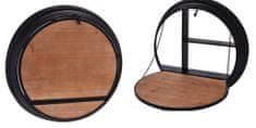 EXCELLENT Domáci bar nástenný kov / drevo