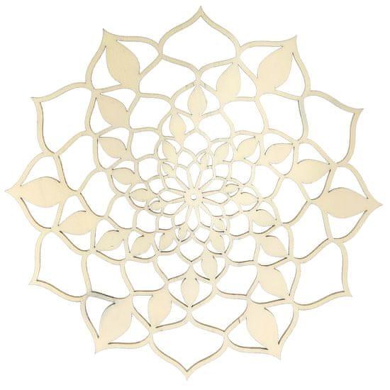 AMADEA Dřevěná dekorace mandala přírodní 20 cm
