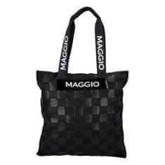 Maggio Stylová a hravá dámská koženková kabelka Francesca Maggio, černá