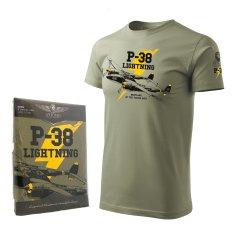 ANTONIO Tričko s válečným letadlem P-38 LIGHTNING