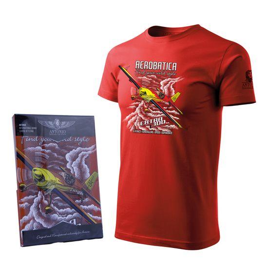 ANTONIO Tričko s akrobatickým speciálem EXTRA 300 RED, M