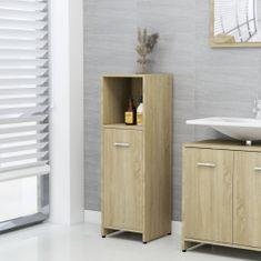 shumee Skrinka do kúpeľne, dub sonoma 30x30x95 cm, drevotrieska
