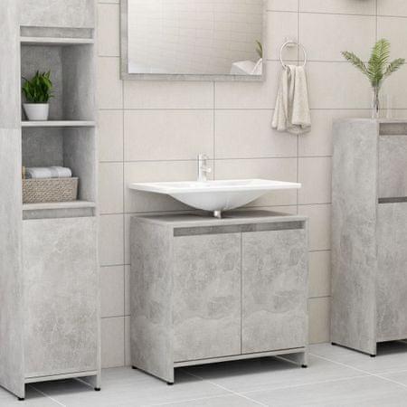 slomart Kopalniška omarica betonsko siva 60x33x58 cm iverna plošča