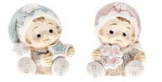 DARKA Sedící miminka s hvězdičkou a se čtyřlístkem Sada 2 ks 215064-1