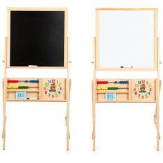 Derrson Multifunkčná obojstranná drevená tabuľa 115x56cm