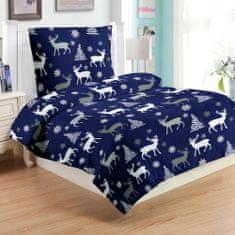 Jahu Plavi jelen posteljina, mikro pliš, 70 x 90/140 x 200
