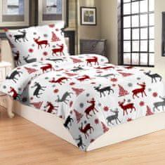 Jahu Jelen, crvena posteljina, mikro pliš, 70 x 90/140 x 200