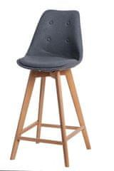 shumee Šedá barová stolička s vysokým kohútikom zo severského dreva
