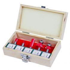 RAIDER glodalica, stabljika, R8mm, set od 5 dijelova, tip B, drvena kutija