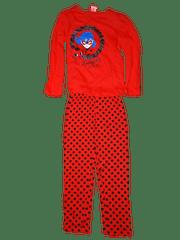 Miraculous Ladybug Dívčí červené pyžamo s kouzelnou beruškou a dlouhým rukávem.