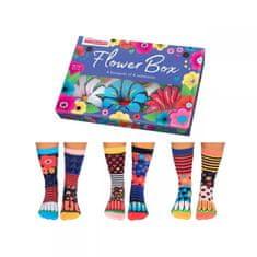 United Odd Socks Veselé ponožky Flower Box veľ.: 37-42