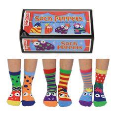 United Odd Socks Detské veselé ponožky The Sock Puppets veľ.: 27-30