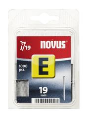 Novus Hřebíky E typ J/19 balení: balení á 1000ks, obal: závěska