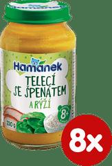 Hamánek Telecí se špenátem a rýží 8x 230g