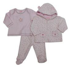 Just Too Cute Csecsemő szett velúr - csillagok- rózsaszín