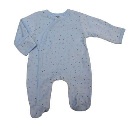 Just Too Cute Velúr overál csillagok - kék, 62, kék