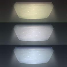 Solight LED stropné svetlo Star, štvorcové, 24W, 1440lm, diaľkové ovládanie, 37cm