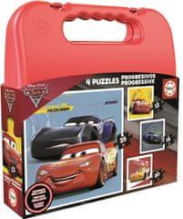 EDUCA Puzzle v kufríku Cars 3 (12, 16, 20, 25 dielikov)