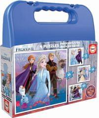 EDUCA Puzzle v kufríku Frozen II (12, 16, 20, 25 dielikov)