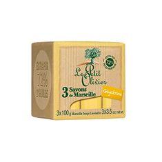 Le Petit Olivier Marseillské mydlo s glycerínom (Marseille Soaps) 3 x 100 g
