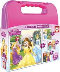 EDUCA Puzzle v kufríku Disney Princess (12, 16, 20, 25 dielikov)