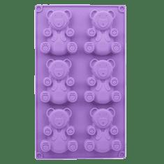 Čo Dokáže Mama Silikónová forma na pečenie macíkov, fialová