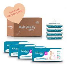 BabyBaby Soft MESAČNÉ BAL. MAXI (200 ks) + 4x vlhčené 100% bavlna