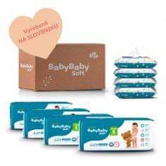 BabyBaby Soft MESAČNÉ BAL. JUNIOR (176 ks) + 4x vlhčené 100% bavlna