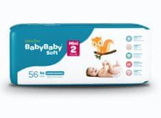 BabyBaby Soft Plienky MINI 2 (3-6kg) 56ks